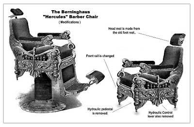 Hercules Berninghaus barber chair design