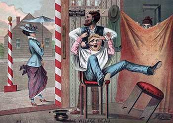 Barber Shop Humour Illustration